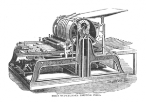 Photo of a printing press